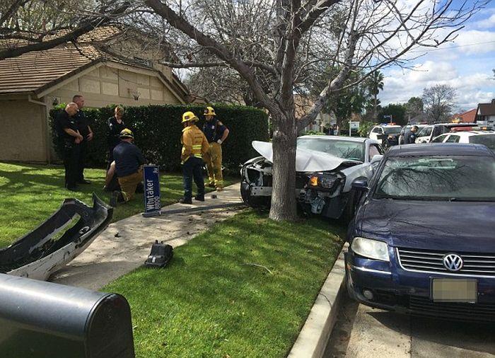 В Лос-Анджелесе пьяный сын Николаса Кейджа пытался уйти от преследования полиции (5 фото)
