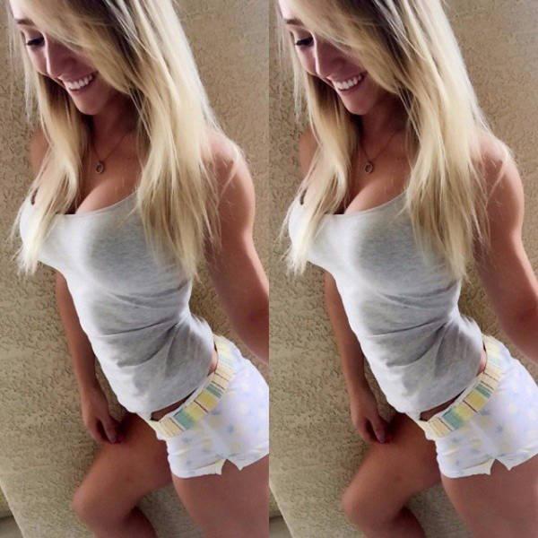 Девушки в коротких шортах (62 фото)